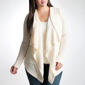 Lane Bryant Cable Knit Wool Blend Cardigan
